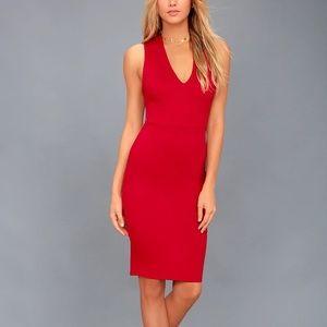 LULU'S Darling Dance red backless dress